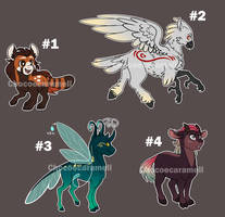Pony Hybrids AUCTION #1- OPEN (Points only) by Chocoecaramell