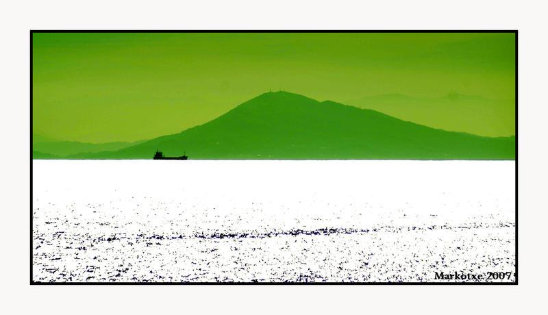 montagne verte mer blanche by Markotxe