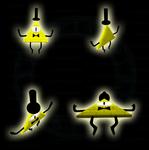 GF - Evil Dorito aka Bill Cipher in 3D by TigerBlack62