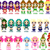Sailor pixels dolls by Hebe-shinyillusion