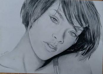 Rihanna Portrait by HenningBlom