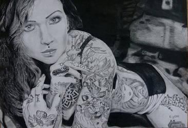 Tattooed Woman by HenningBlom