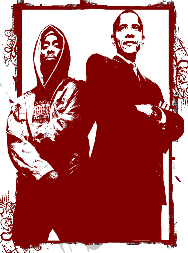 Tupac Obama by e-scribble