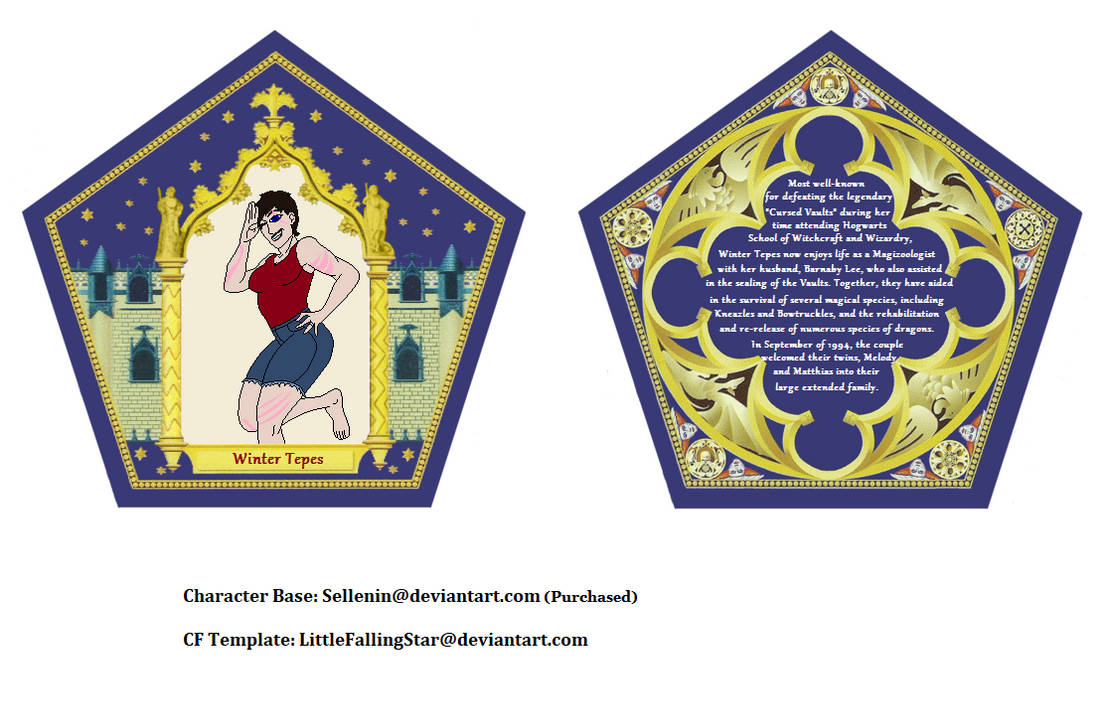 Chocolate Frog Card by LittleFallingStar on DeviantArt Pertaining To Chocolate Frog Card Template