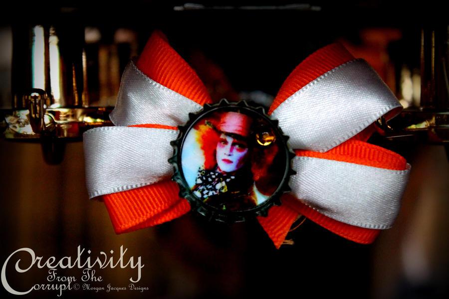 Mad Hatter Orange Bow by CreativityFTCorrupt