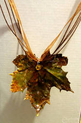 Real Sugar Maple Leaf Necklace by CreativityFTCorrupt