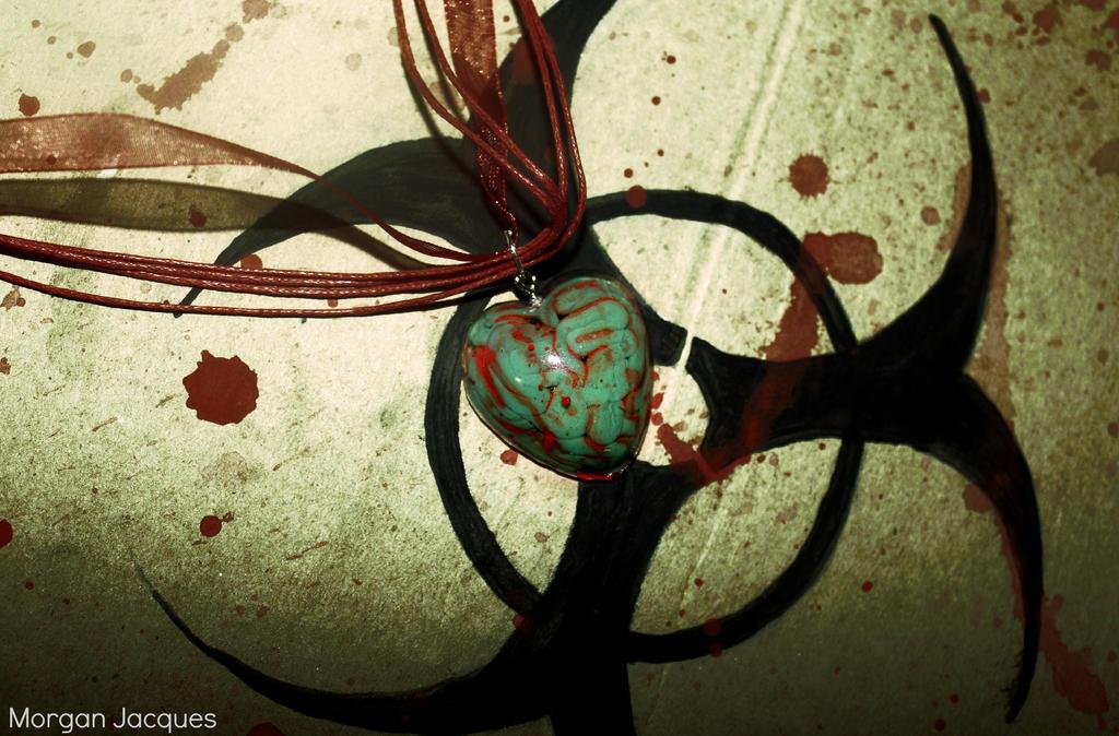 Zombie Brain Necklace by CreativityFTCorrupt