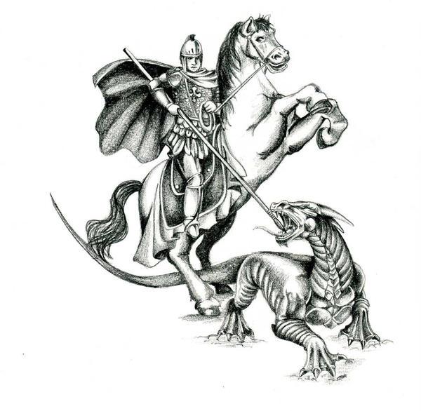 saint george and the dragon by kauniitaunia on deviantart. Black Bedroom Furniture Sets. Home Design Ideas