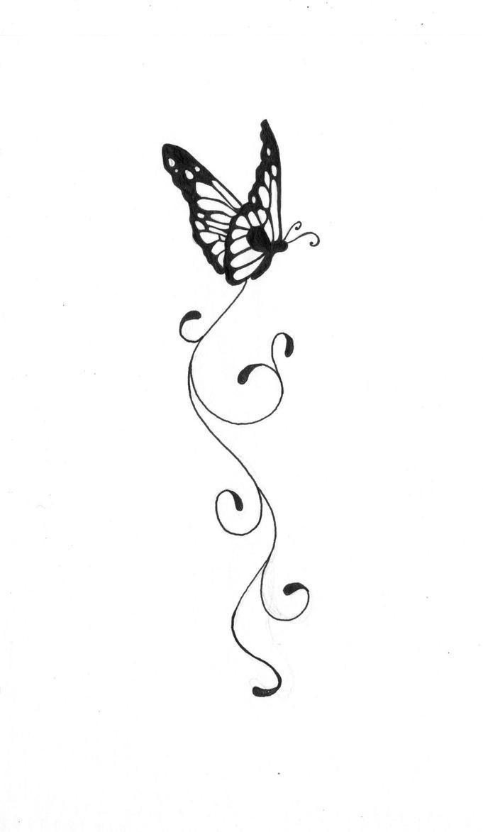 Line Drawing Butterfly Tattoo : Butterfly tattoo by kauniitaunia on deviantart