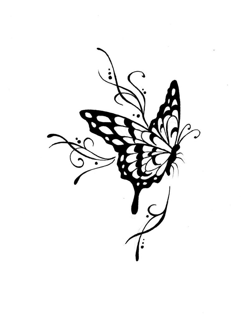 Line Drawing Butterfly Tattoo : The gallery for gt butterfly tattoo line art