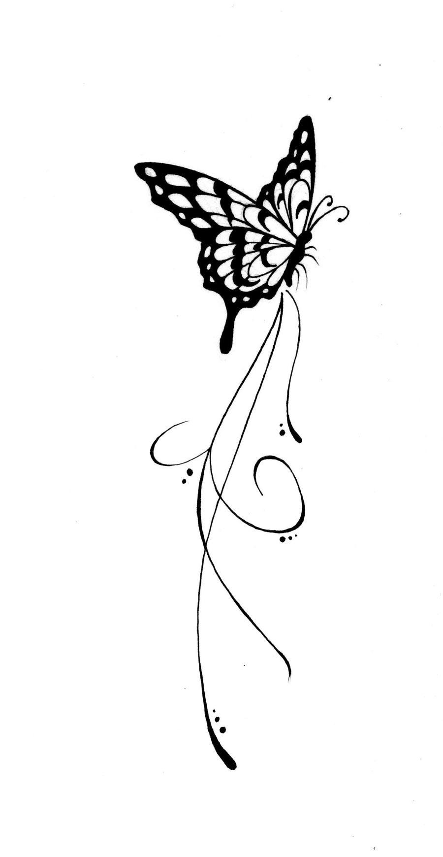 Butterfly tattoo 3 by kauniitaunia on deviantart - Tatouage de papillon ...