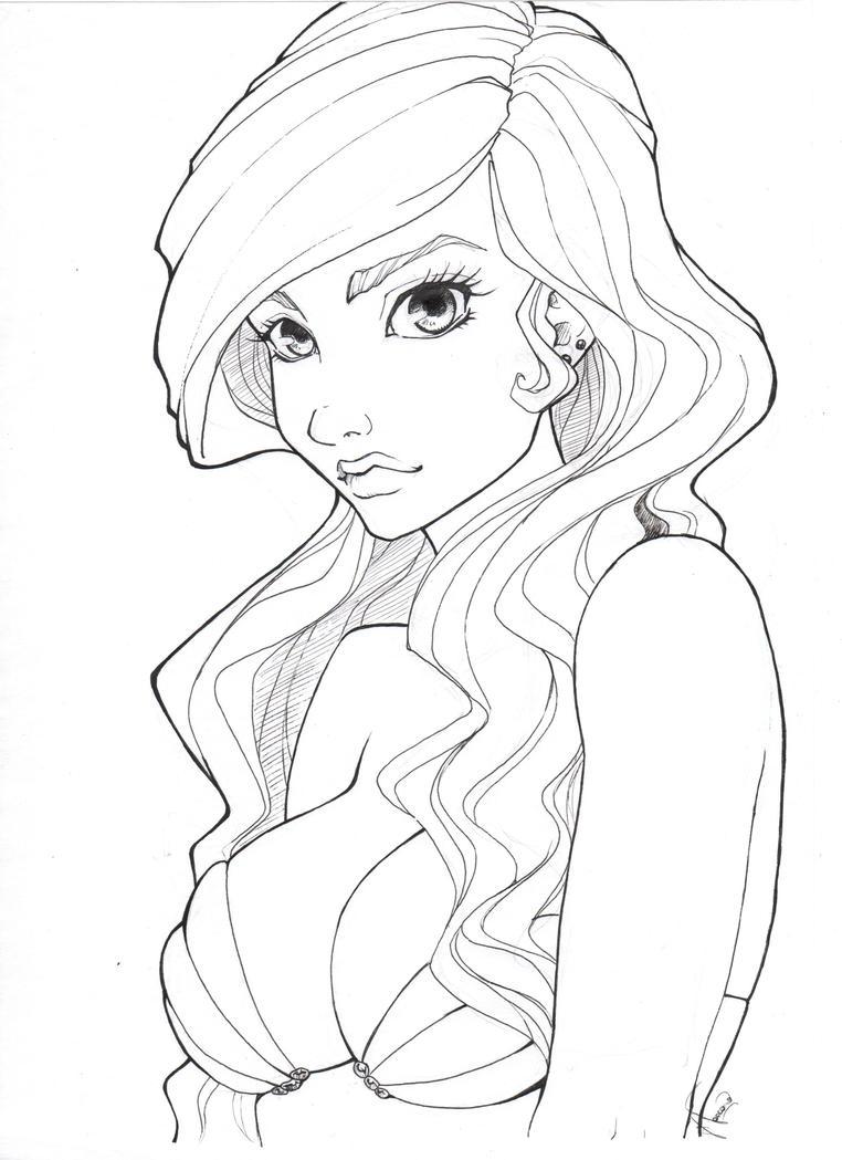 Disney Princess Ariel By Kauniitaunia On Deviantart Disney Princess Line Drawings Printable