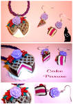 Cake Parure Fimo by kauniitaunia