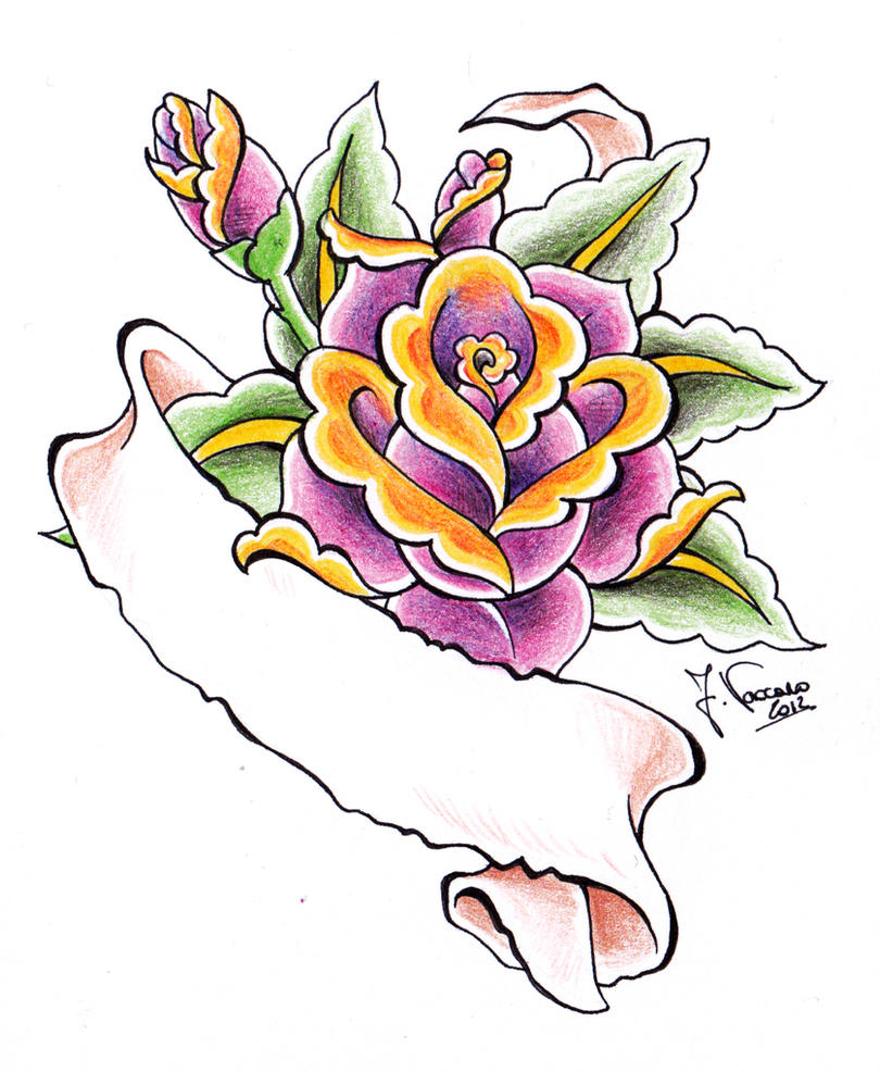 Scroll Tattoos With Roses 6360 Usbdata