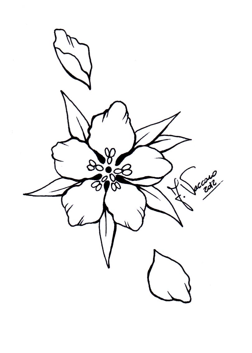Line Art Flower Tattoo : Peach flower lineart by kauniitaunia on deviantart
