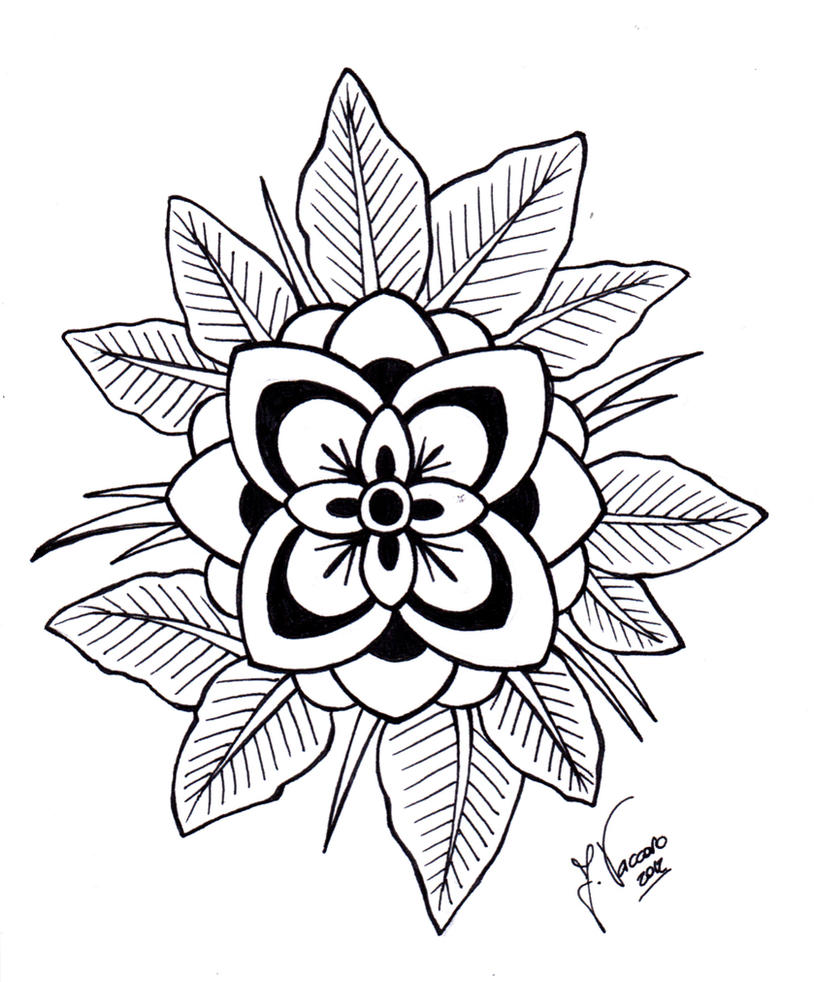 Line Art Design Flower : Flower lineart by kauniitaunia on deviantart