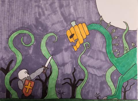 Skull Knight vs. Pumpkinmonster