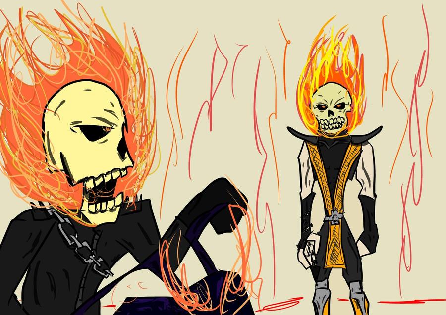 Ghost Rider v.s Scorpion by sakaidraws on DeviantArt