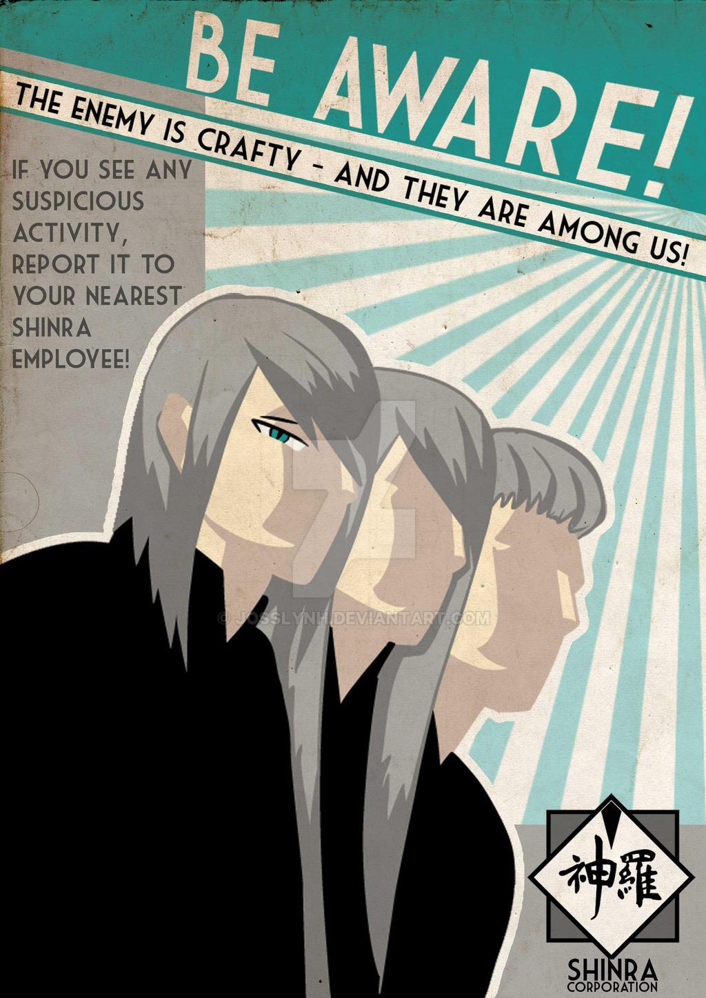 Be Aware! ShinRa Propaganda by JosslynH
