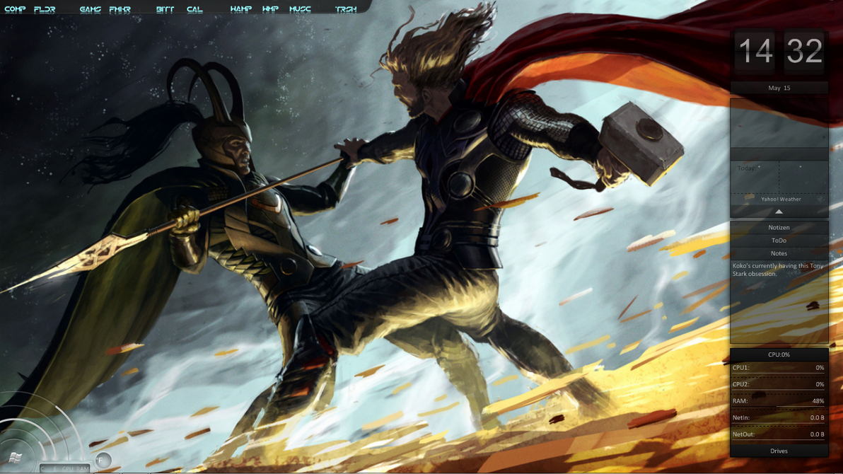 Thor vs. Loki by rosetippedpen