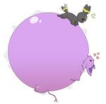 (Art trade) Umbreon inflating Espeon some more