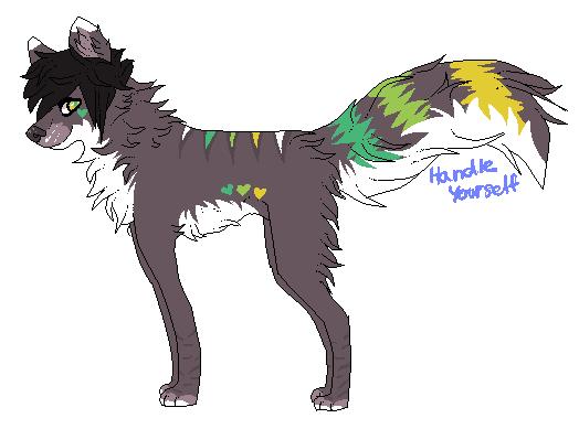 x. Wolf adoptable VIII. OPEN by HandleYourself