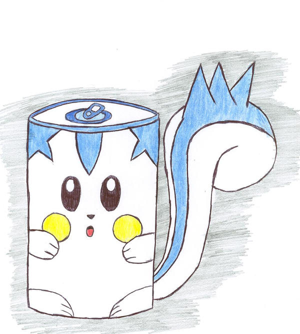 Pachirisu soda can by Pikacshu