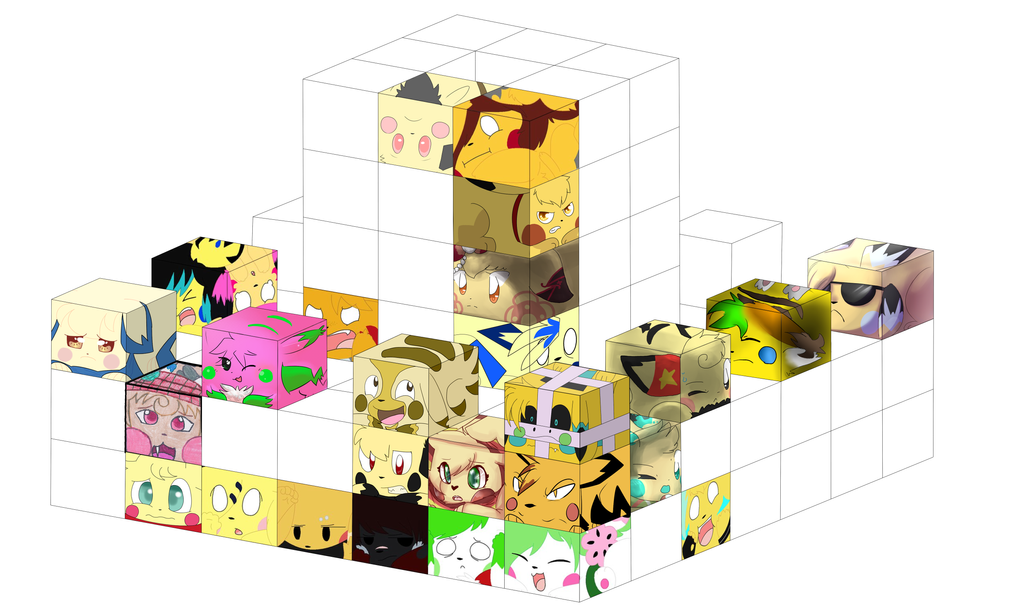 Cube Collab Wip 1 by Pikacshu
