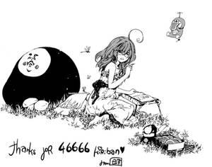 thanks for 46666 kiriban