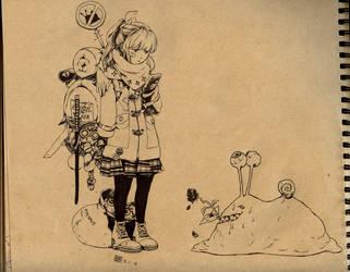 In-loving Snail by buta0309