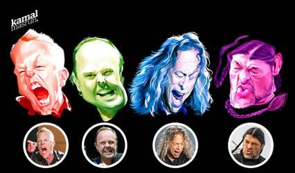 Metallica (new member) caricature