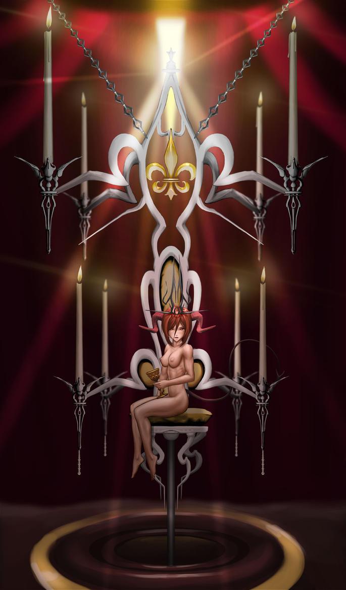 Kiwano's throne nude version by mrpranny