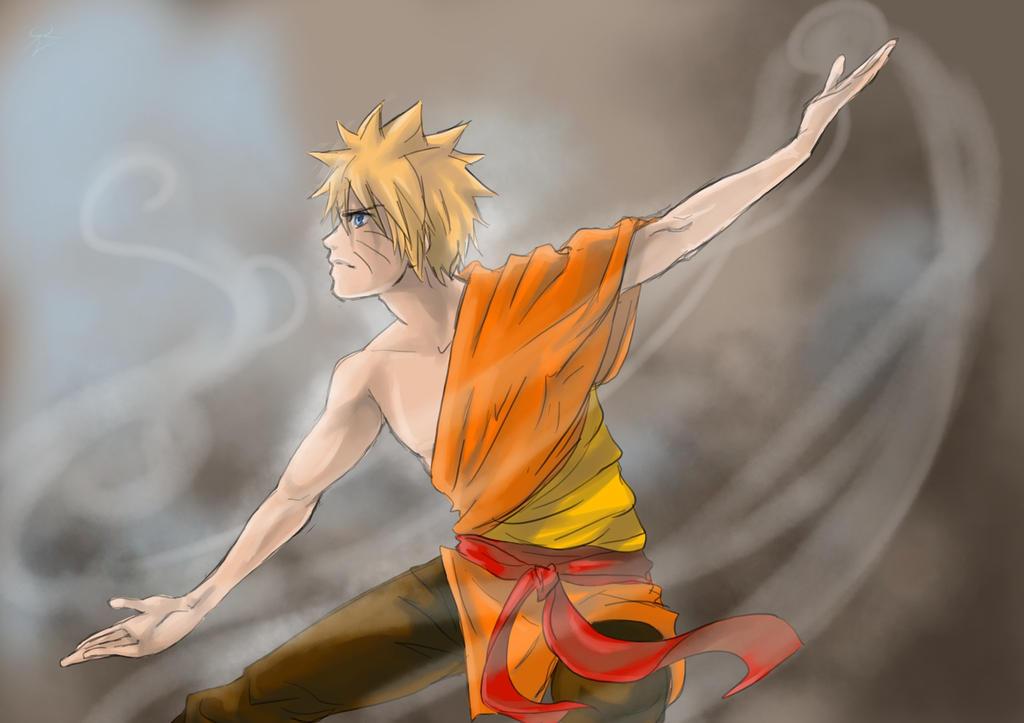 Naruto airbender by Ashirogi28