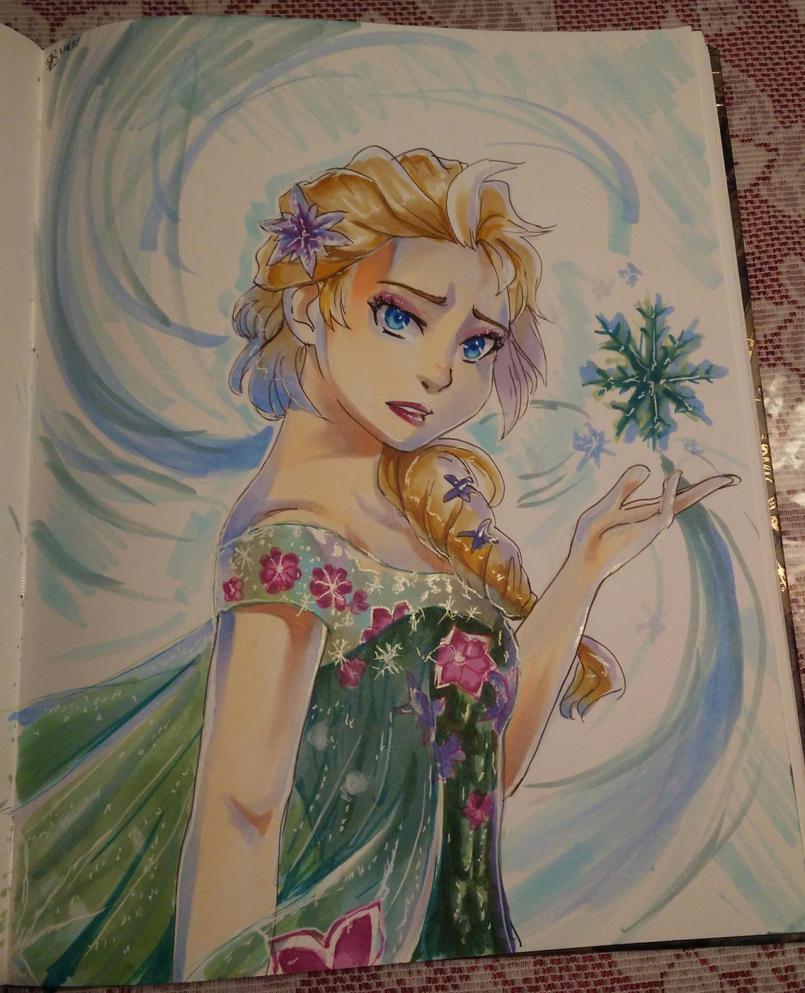 Summer Elsa by Ashirogi28
