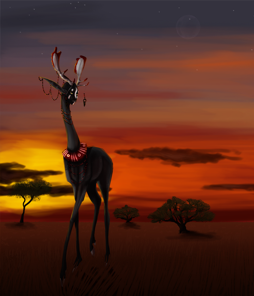 Sunrise on the savannah by MisMantis