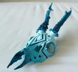 The blue skull