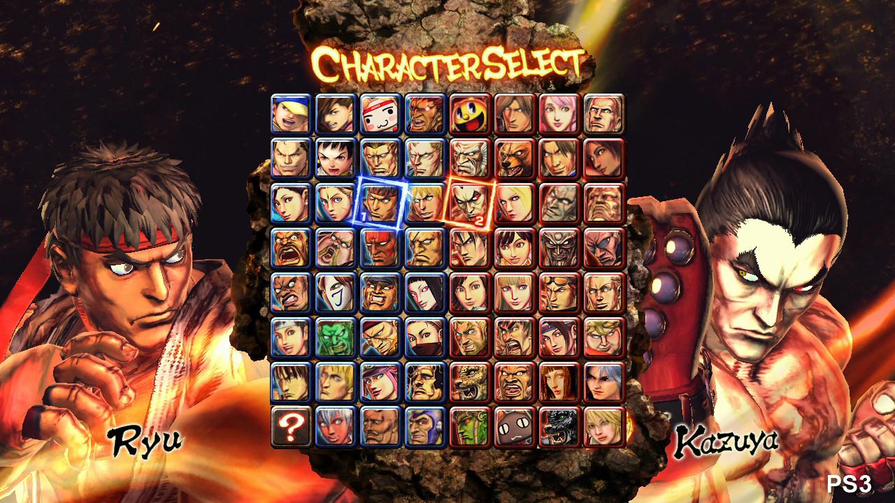 Super Street Fighter X Tekken Characters Select By Juniorbunny On