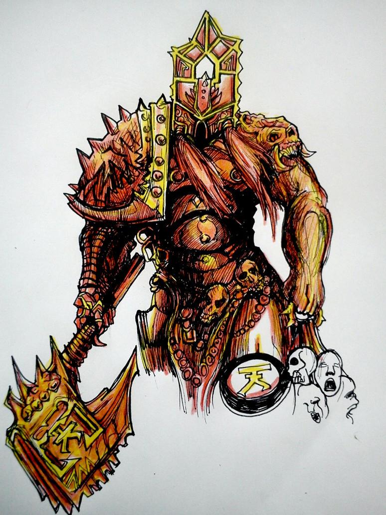 Warhammer 40k Khorne berserker by r0binjonsson on DeviantArt