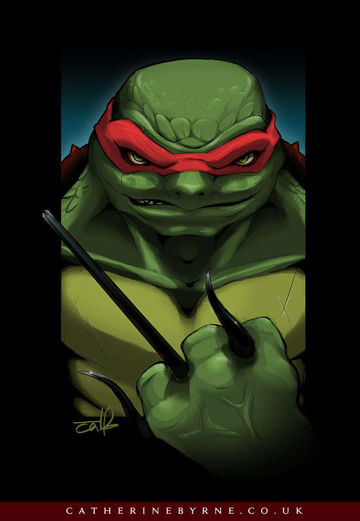 Not-so-teenage Mutant Psycho Turtle by CatByrne
