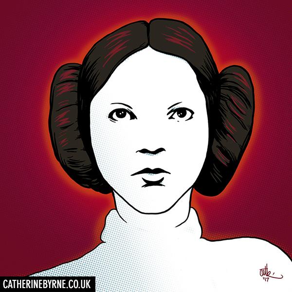Princess Leia commission by CatByrne