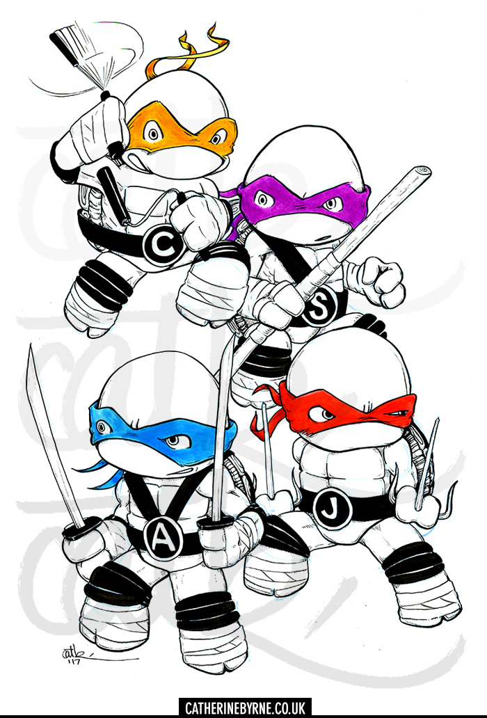 TMNT commission by CatByrne
