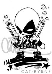 Chibi Deadpool inks by CatByrne