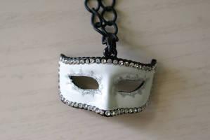 Venetian Mask Necklace by MonsterBrandCrafts