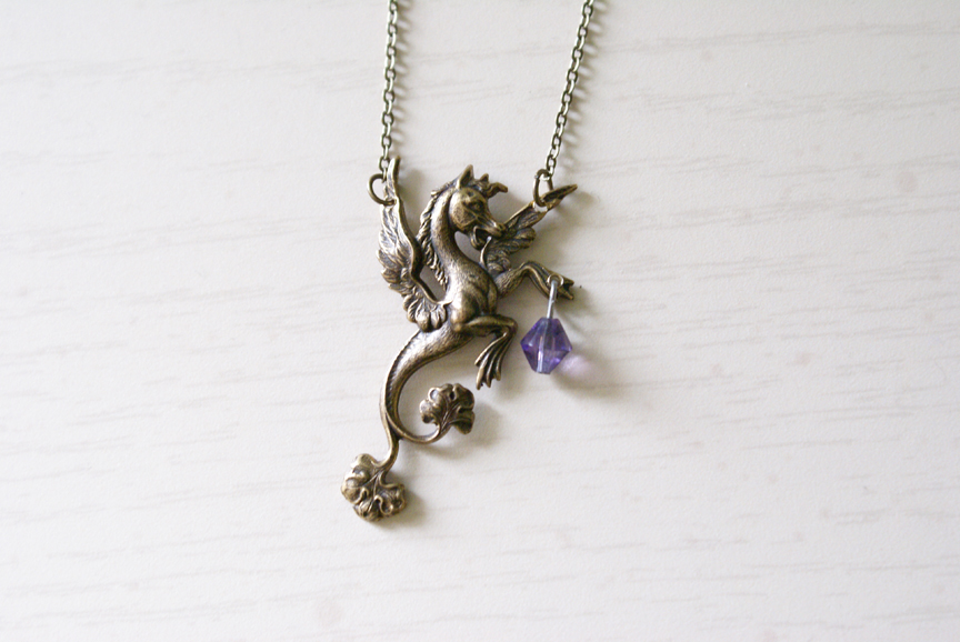 Mythical Pegasus Necklace by MonsterBrandCrafts