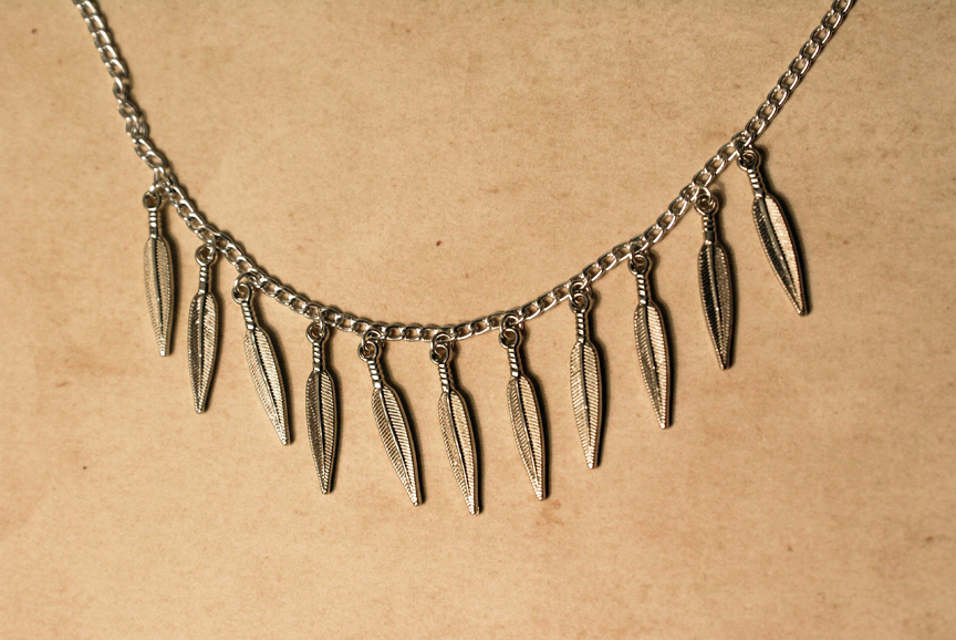 Light-weight Feather Necklace by MonsterBrandCrafts