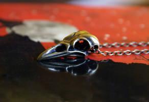 Bird Skull Necklace by MonsterBrandCrafts
