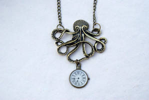 Octopus Necklace by MonsterBrandCrafts