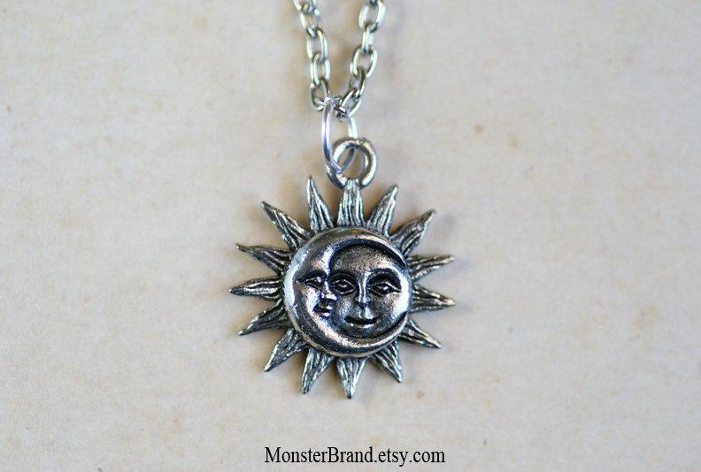 Tiny celestial sun and moon necklace by monsterbrandcrafts on deviantart tiny celestial sun and moon necklace by monsterbrandcrafts aloadofball Images