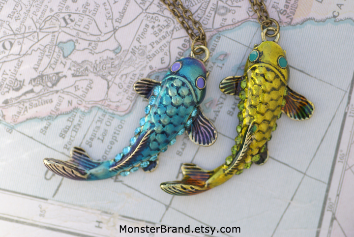 Koi fish necklaces by monsterbrandcrafts on deviantart koi fish necklaces by monsterbrandcrafts aloadofball Images