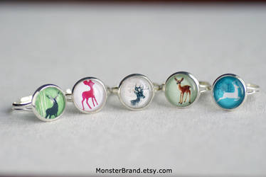 Lovely Deer Ring Collection by MonsterBrandCrafts